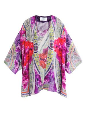The amazing garden print kaftan