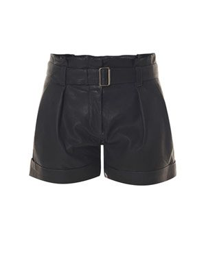 Ettie paper bag leather shorts