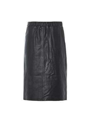 Teeka leather pencil skirt