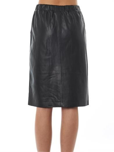 Theory Teeka leather pencil skirt