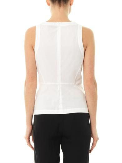 Theory Ballise stretch-cotton blouse