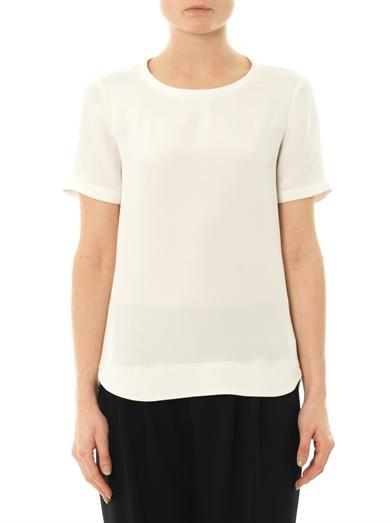 Theory Katsley silk T-shirt