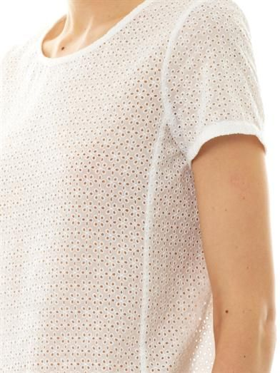 Theory Summershell broderie-anglaise T-shirt