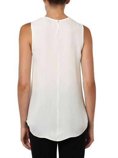 Theory Bringham sleeveless silk blouse