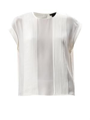 Sellida pleated silk blouse