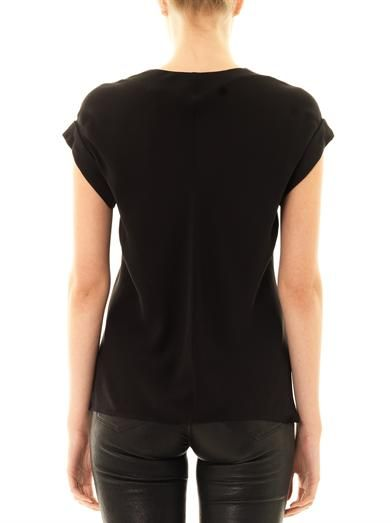Theory Gyda silk blouse