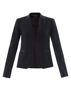 Lanai leather trimmed blazer