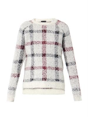 Innis plaid textured-knit sweater