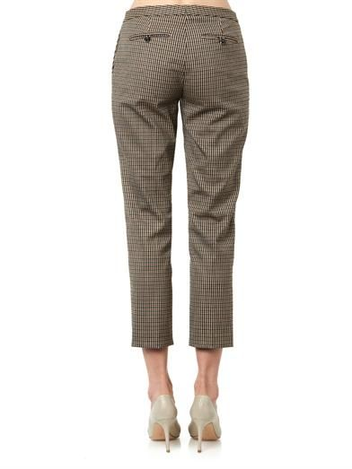 Theory Item checked wool-blend cropped trousers
