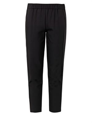 Korene stretch-crepe cropped trousers