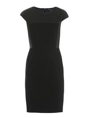 Jada leather and stretch-jersey dress