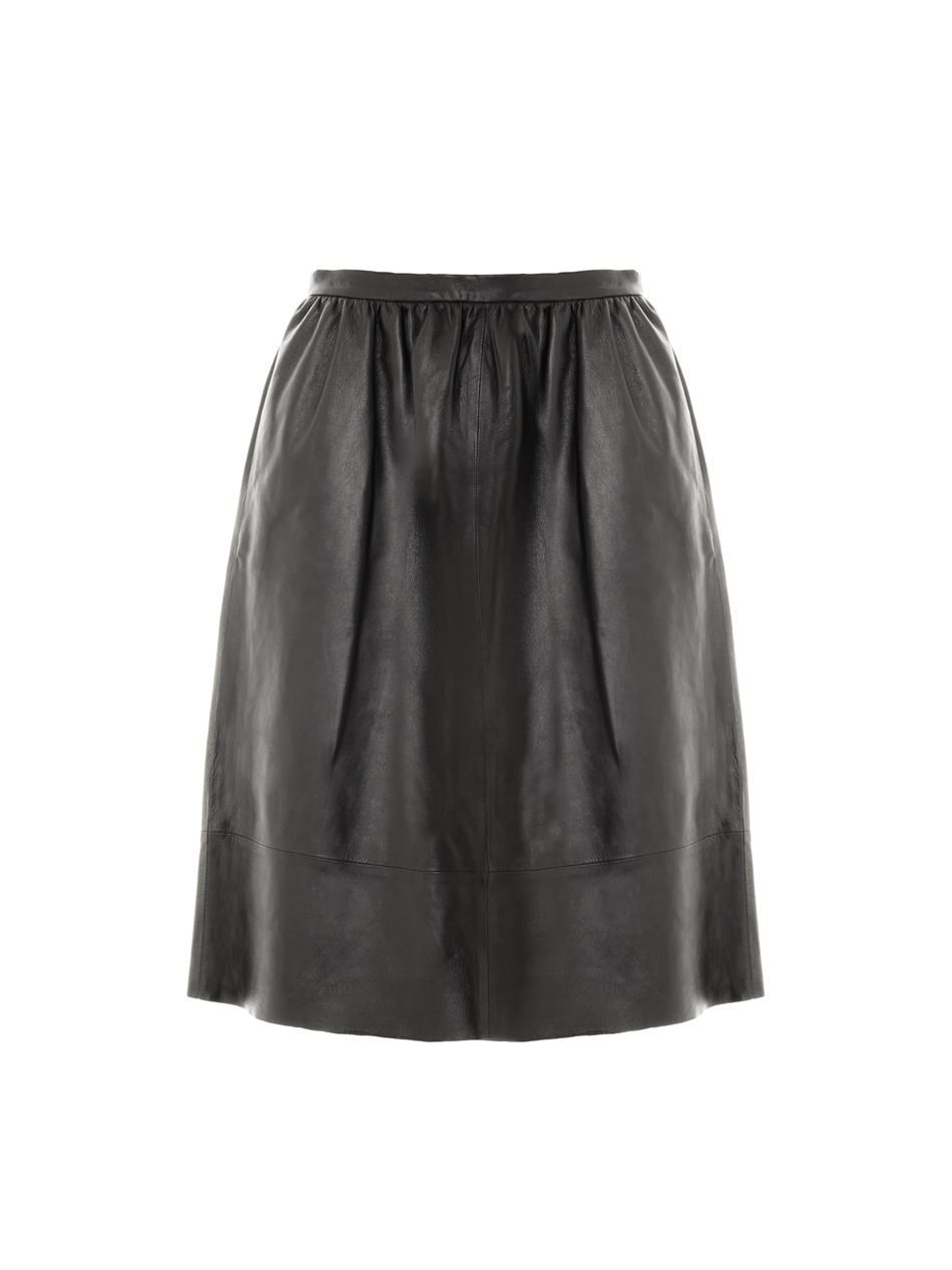 Gelsey leather skirt