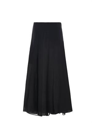 Swind silk maxi skirt