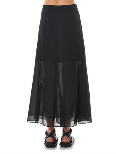 Theory Swind silk maxi skirt