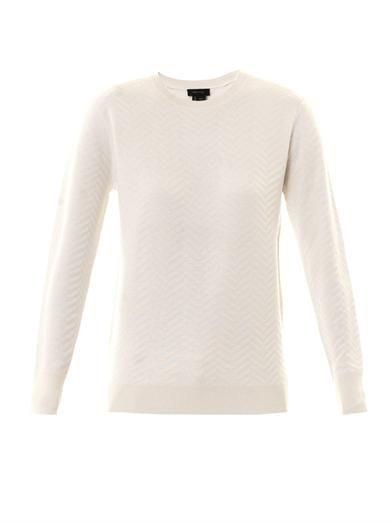 Theory Hannalor chevron-knit sweater