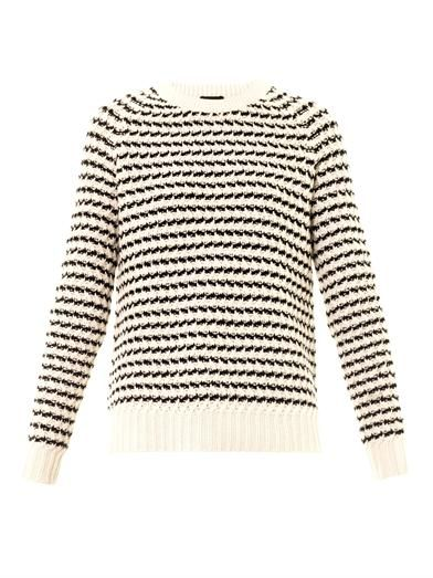 Theory Striped crew-neck sweater