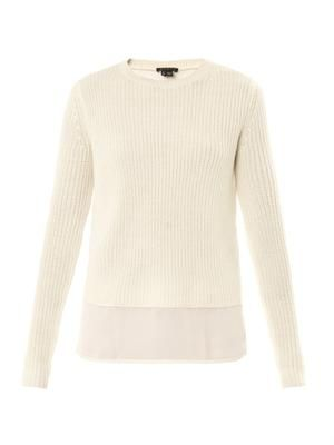 Klemdy contrast-panel sweater