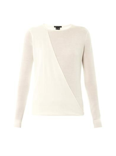 Theory Sempra wool and silk-blend sweater