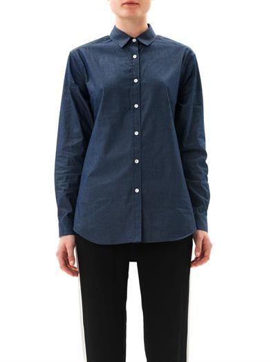 Dark Denim Shirt For Women