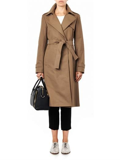 Theory Ashling cotton trench coat