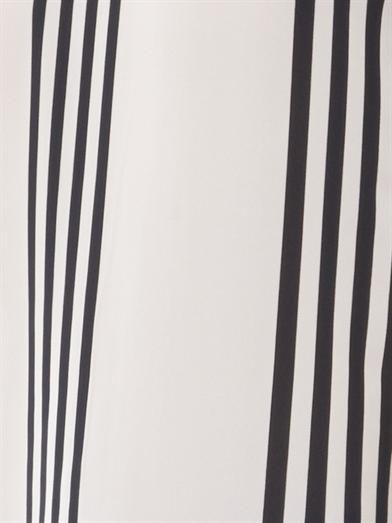Theory Isaac striped silk blouse