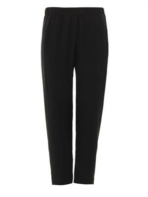 Korene cropped silk trousers