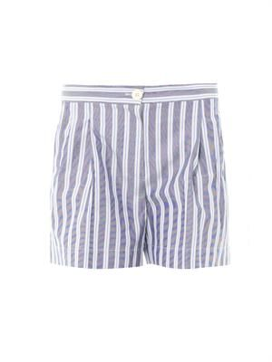 Macha stripe cotton shorts