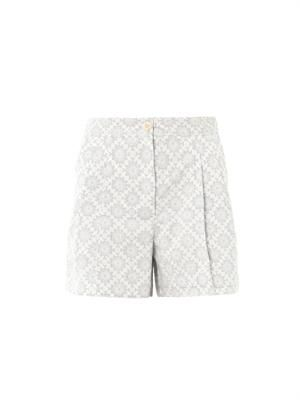Macha folk-print shorts