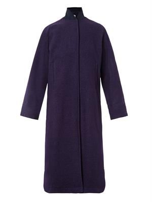 Newton textured-wool long coat