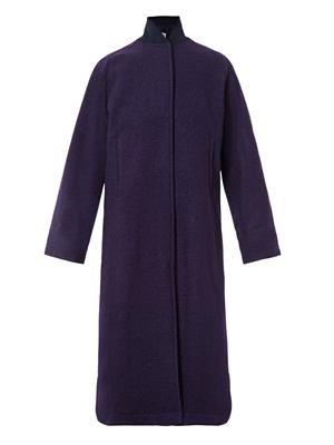 Newton textured-wool long coat