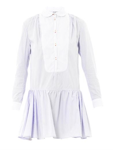 Thierry Colson Lizbeth stripe cotton shirt dress