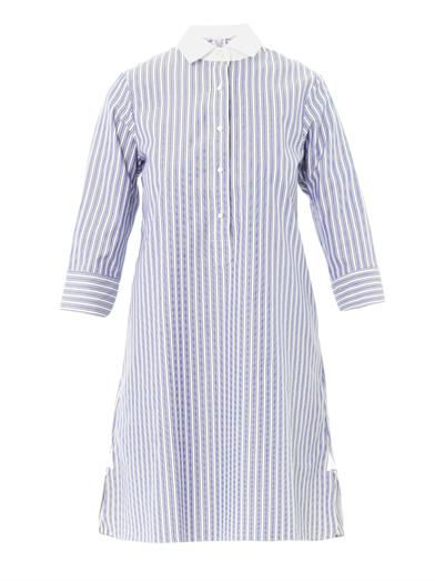 Thierry Colson Cecile stripe cotton shirt dress