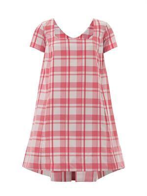 Iris gingham-print dress