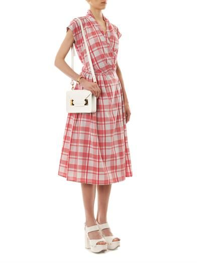 Thierry Colson Isolde gingham-print wrap dress