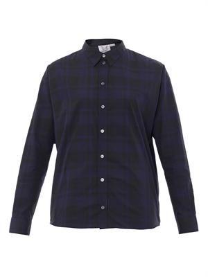 Kent gingham-print shirt