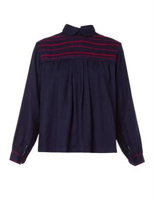 Joy embroidered wool top