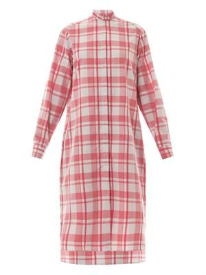 Margot gingham-print shirt dress