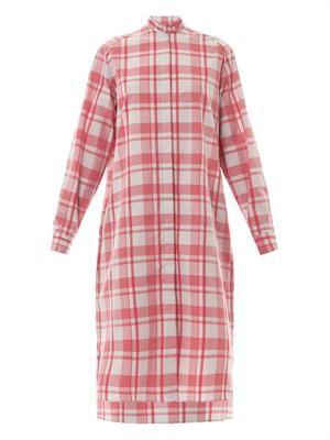 Margot gingham-print shirt dress