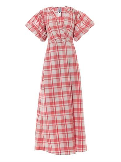Thierry Colson Marieke gingham-print dress