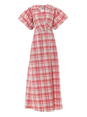 Marieke gingham-print dress