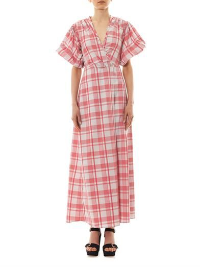Thierry Colson Marieke gingham-print dress