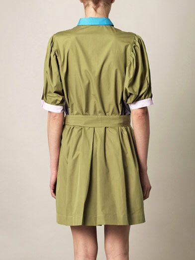 Thierry Colson Iolanda colour-block shirt dress