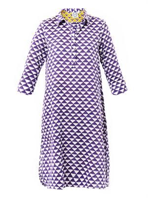 Angelica geometric-print shirt dress