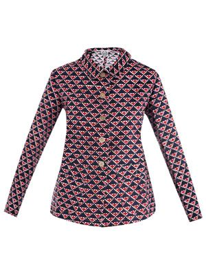 Khan geometric-print jacket