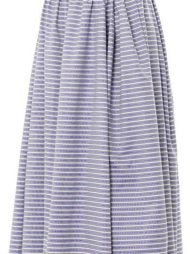 Thierry Colson Bis Sailor stripe maxi skirt