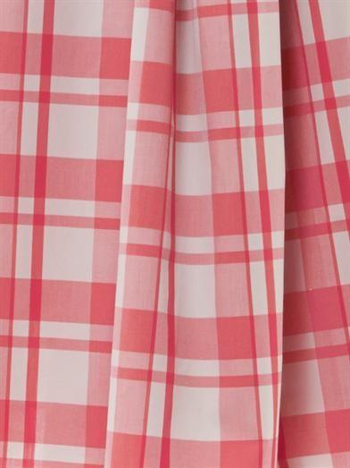 Thierry Colson Mimi gingham-print midi skirt