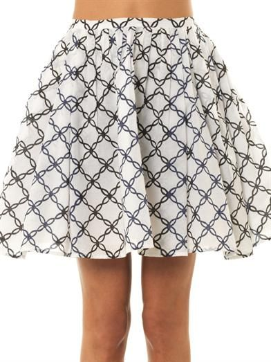 Thierry Colson Mimi folk-print mini skirt