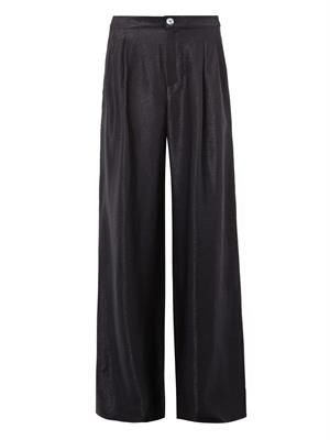 LouLou wide-leg twill trousers