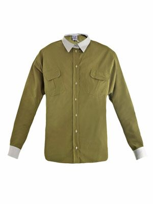 Kent colour-block shirt