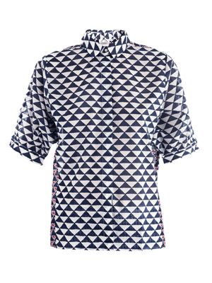 Ios geometric-print shirt